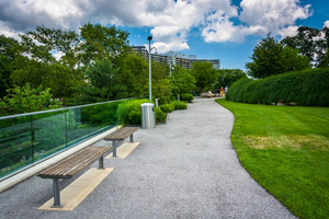 Walkway at Fairmount Park in Philadelphia Pennsylvania